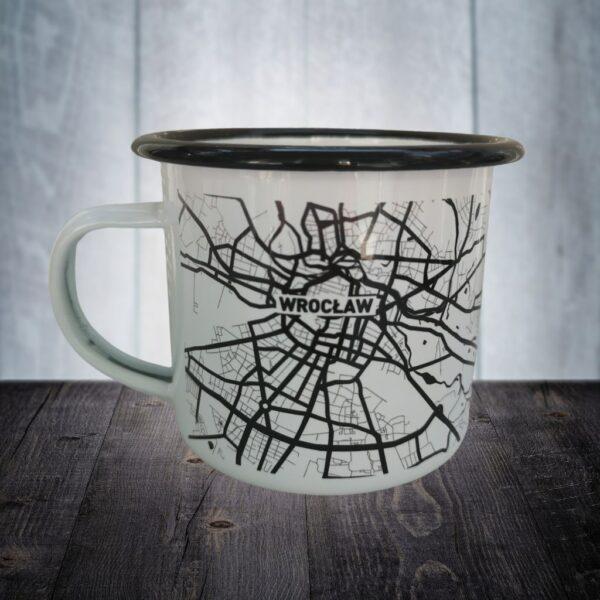 kubek emaliowany wrocław mapa plan miasta pomysł na prezent eko