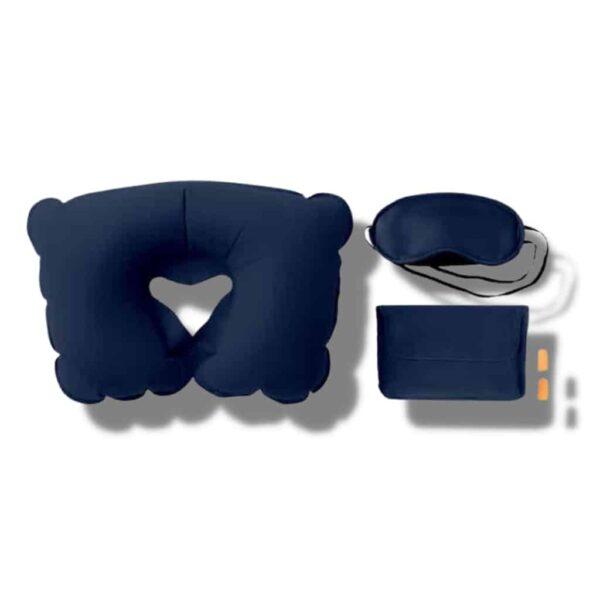 zestaw podróżny prezent dla podróżnika sklep z gadżetami poduszka turystyczna opaska na oczy zatyczki do uszu