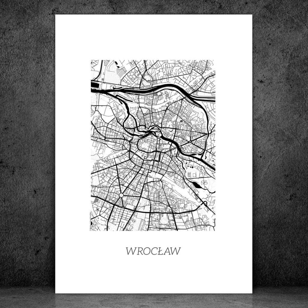 plakat dwustronny mapa plan miasta wrocław pomysł na prezent podróże cytat podróżniczy motywujący motywator gdzie kupić