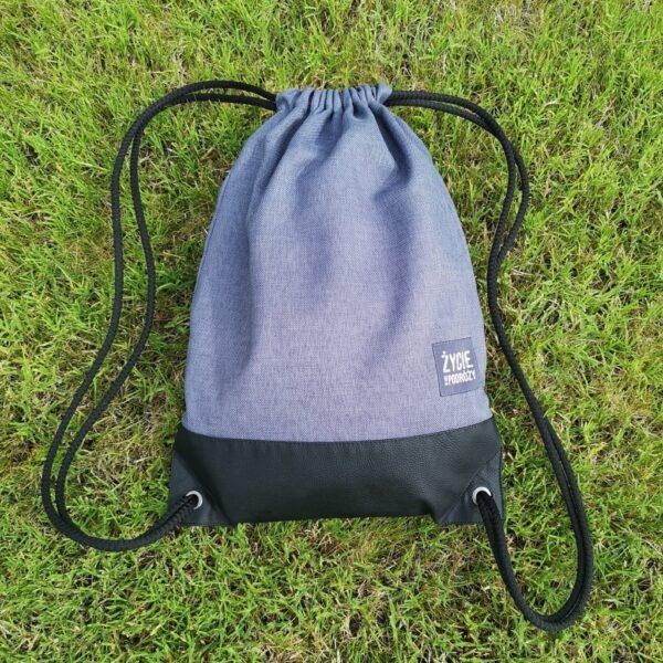 worek plecak worko-plecak dla podróżnika praktyczny pomysł na prezent ręczne wykonanie, duży poręczny solidny materiał mocne sznurki