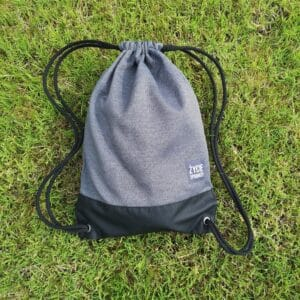 worek plecak worko-plecak dla podróżnika praktyczny pomysł na prezent ręczne wykonanie, duży poręczny solidny materiał mocne sznurki szary