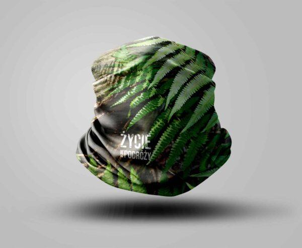komin bandana szal sublimacja sklep internetowy życie w podróży las paprocie