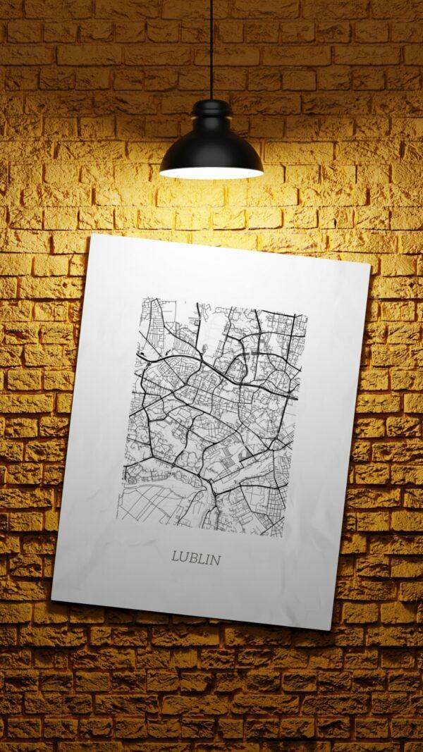 plakat mapa lublin sklep internetowy cytat motywacyjny podróżniczy
