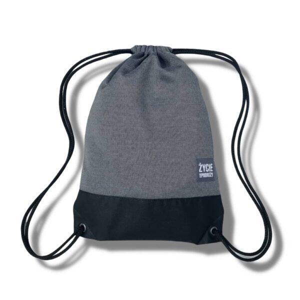 worek plecak podrożniczy worko-plecak pomysł na prezent dla podróżnika co na prezent pomysł szary kolor