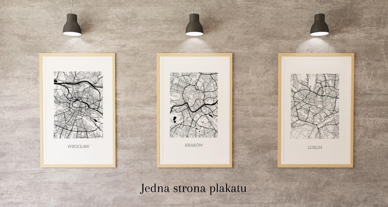mapa plan miasta lublin kraków wrocław warszawa dwustronny sklep internetowy