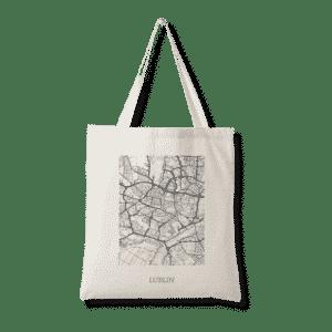 torba bawełniana lublin prezent mapa plan miasta