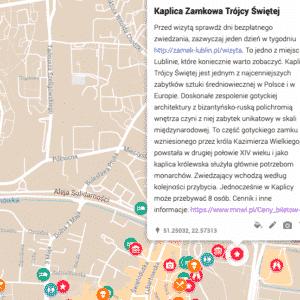 turystyczna interaktywna mapa lublina zwiedzanie
